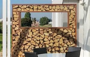 Brennholz Aufbewahrung Aussen : gartenmetall gartenobjekte aus metall sichtschutz ~ Michelbontemps.com Haus und Dekorationen