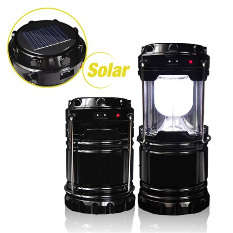 2pcs rechargerable lantern solar led light outdoor cing