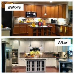 kitchen cabinet refurbishing ideas oak kitchen cabinets painted before and after home photos design inside refinished kitchen
