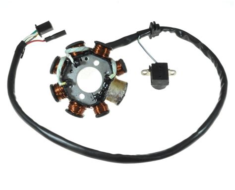 8 coil magneto stator with 3 2 wiring connector for 125cc gy6 152qmi 150cc gy6 157qmj scooters