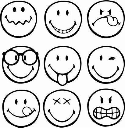 Coloring Emoji Smiley Emoticons Kleurplaat Printable Emoticon