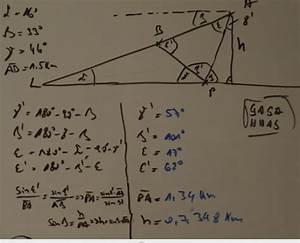 Trigonometrie Höhe Berechnen : trigonometrie ein flugzeug befindet sich im landeanflug mathelounge ~ Themetempest.com Abrechnung