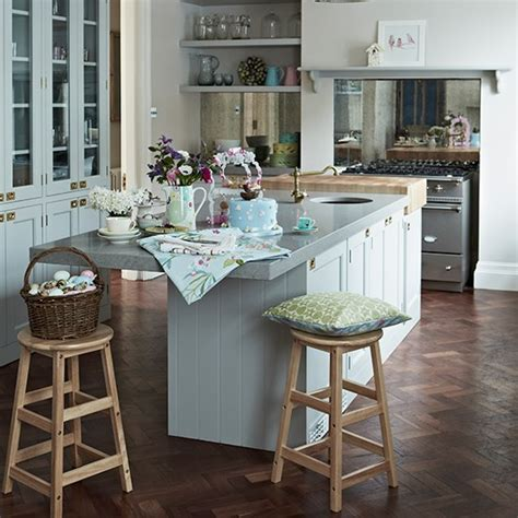 kitchen flooring ideas uk pale blue kitchen with parquet flooring kitchen flooring