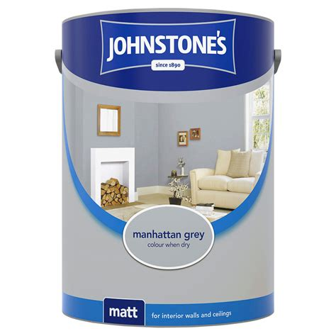 johnstones paint vinyl matt emulsion manhattan grey
