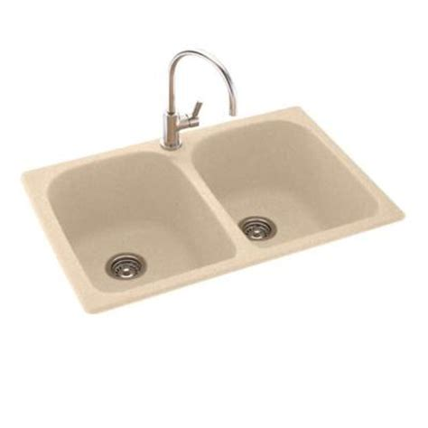 swanstone kitchen sinks home depot swanstone dual mount composite 33x22x10 in 1