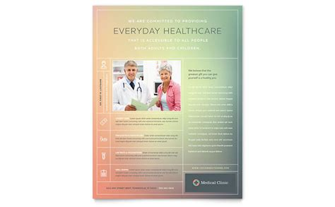 medical clinic flyer template word publisher