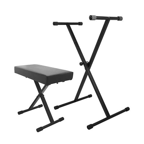 keyboard stand and bench on stage stands kpk6500 keyboard stand and bench pack reverb