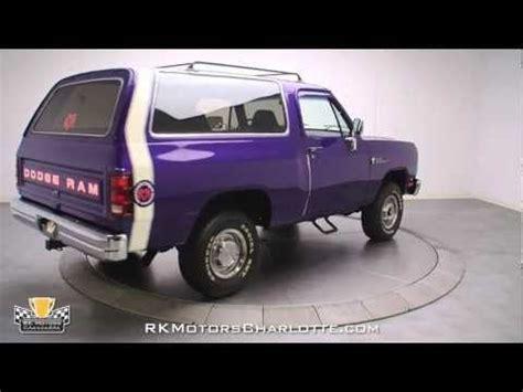 dodge ramcharger  purple gearhead pinterest