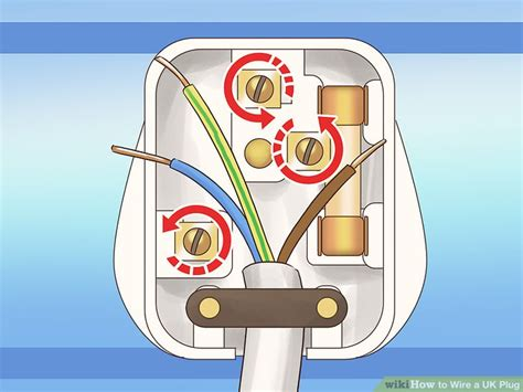 wire  uk plug  steps  pictures wikihow