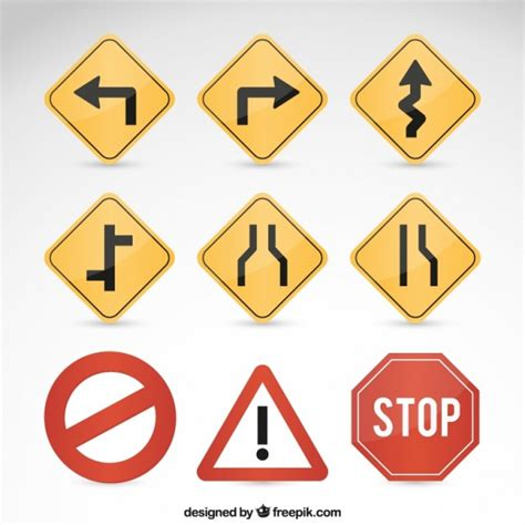 The road less traveled font pack. Road signs Vector   Free Download