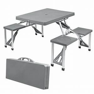 Table 4 Personnes : table de camping valise 4 personnes tout en 1 pour picnic ~ Melissatoandfro.com Idées de Décoration