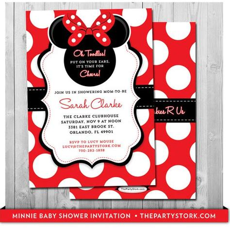 minnie mouse baby shower invitations city minnie mouse baby shower invitation printable baby shower