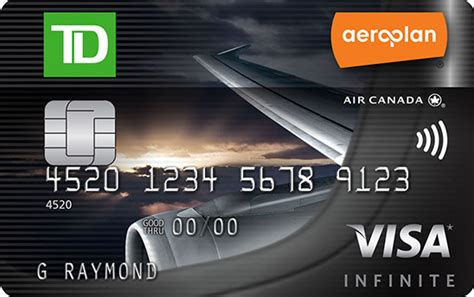 Td Aeroplan Visa Infinite Credit Card Business Card Engineering Templates Size Wedding Rsvp Cards Illustrator Template Youtube Sizes Mm For Pages Square Word 2007