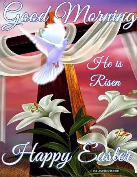 good morning   risen happy easter pictures