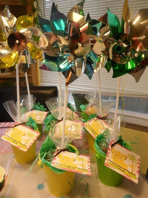 flower pot party favors lion king birthday party