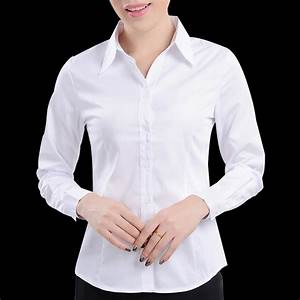 White shirt female work wear women's long sleeve shirt ...