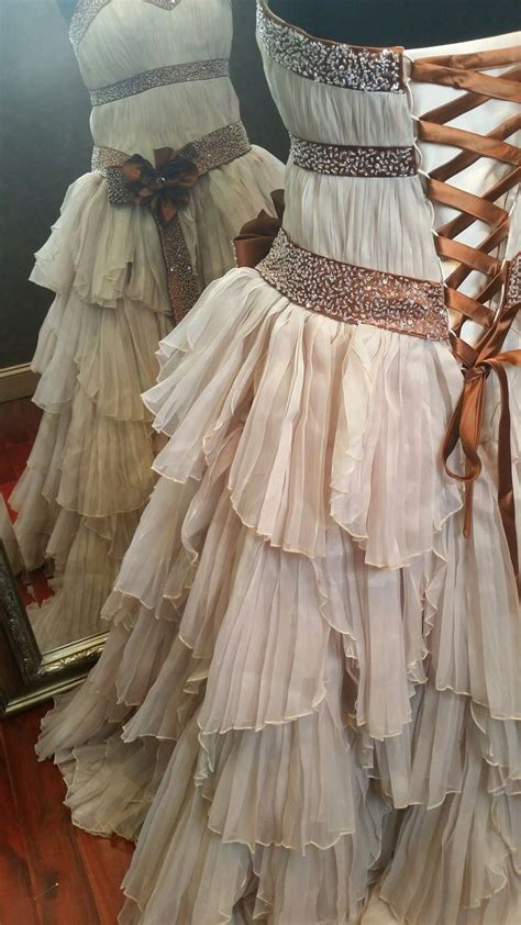 Rustic Steampunk Wedding Dress Available In Every Color
