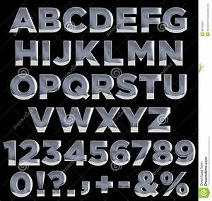 metal letters and numbers alphabet stock illustration With aluminum letters and numbers