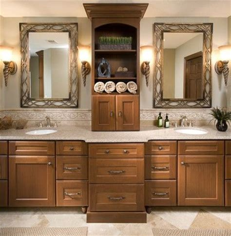 his and her s master bathroom vanity with double sinks and