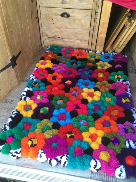 Pom Pom Rug by Bells Labs Crafty Post A Diy Pom Pom Rug
