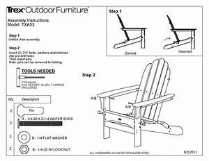 Trex® TXA53 Cape Cod Folding Adirondack Chair: POLYWOOD