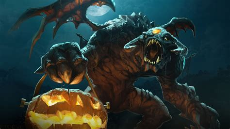 full hd wallpaper dota  roshan jack  lantern muzzle
