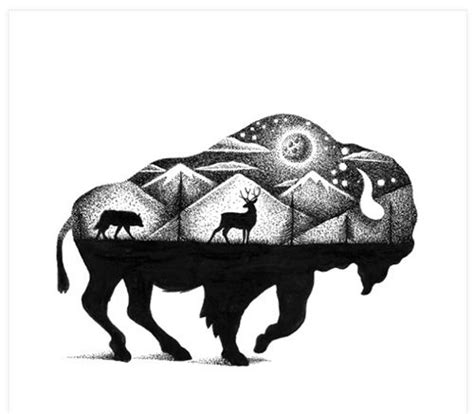 ideas  bison tattoo  pinterest buffalo