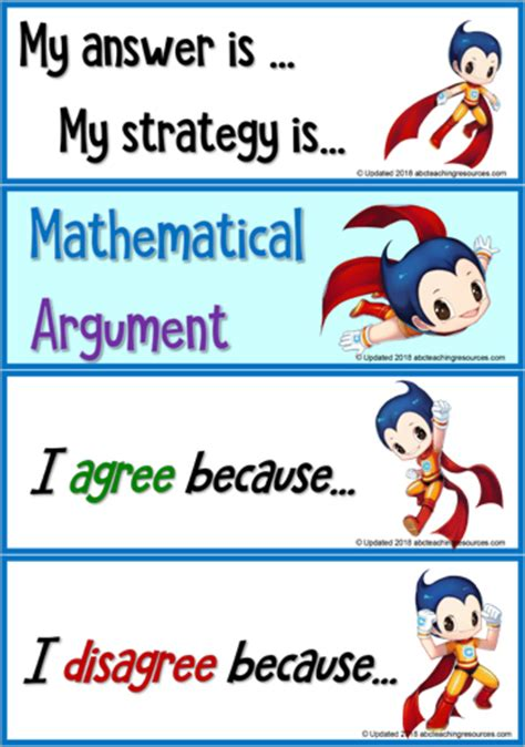 mathematical speaking frames abc teaching resources