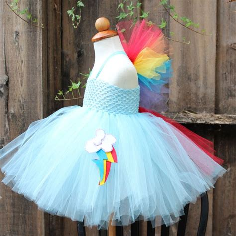 rainbow dash pony dress costume tutu halloween costumes christmas etsy party mlp dresses birthday poodle bloomsnbugs ponies cute tail something