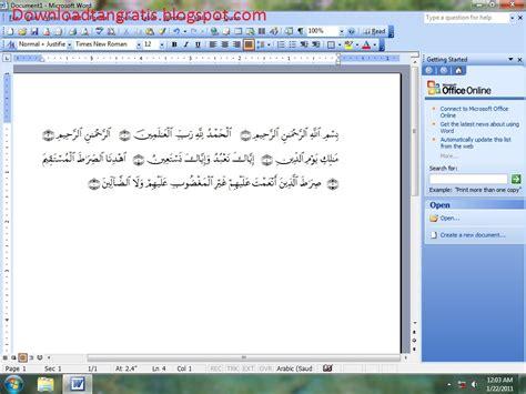 Thesis Toolbar Plugin by Gratis Alquran In Word 2003 Terjemahan Bahasa