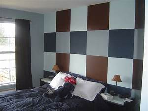 grey and blue wall black bed paint ideas for bedroom With colours personality bedroom painting ideas