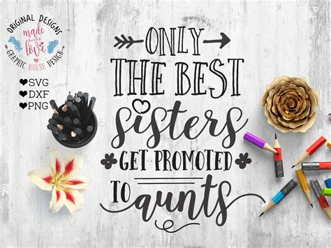 Best Sisters Get Promoted To Aunts Cut File And Printable