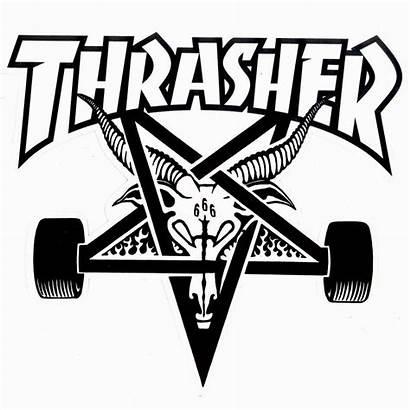 Thrasher Skate Goat Magazine Dxf Zumiez Camiseta