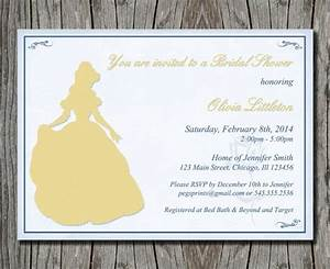 disney39s beauty and the beast bridal shower invitation With beauty and the beast wedding shower invitations