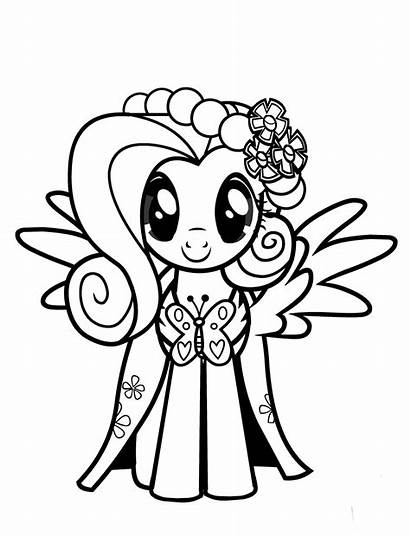 Coloring Fluttershy Pony Pages