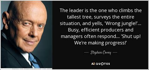 Stephen Covey Quote The Leader One Who Climbs