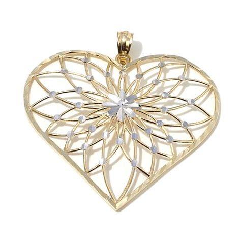 michael anthony jewelry   tone open heart pendant