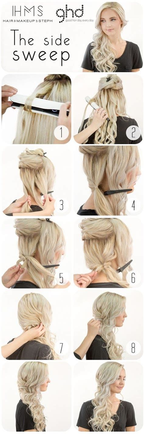 25 best ideas about side swept hairstyles on side hairstyles side curls and