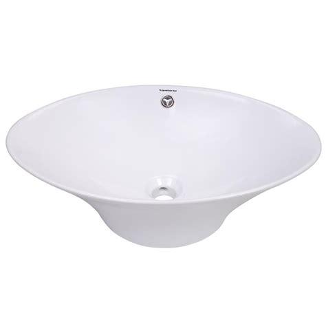 vessel sink with overflow aquaterior bathroom porcelain ceramic vessel sink vanity