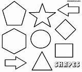 Shapes Geometric Coloring Pages Print sketch template