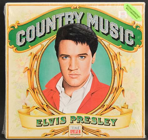 """Initially, it meant up to 52 minutes of music, though later, with the progress of vinyl discs and the invention of cassette and cd, it can become longer. Lot Detail - Elvis Presley """"Country Music"""" Album"""