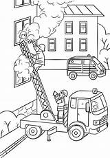 Coloring Fire Fireman Truck Climbing Pages Firefighter Ladder Fighter Drawing Save Printable Child Colouring Sheets Activity Paper Department Trucks Books sketch template