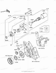 Kawasaki Motorcycle 2010 Oem Parts Diagram For Starter