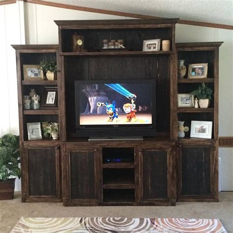 Tvs New Focal Point by This Entertainment Center Is Made From All Wood And
