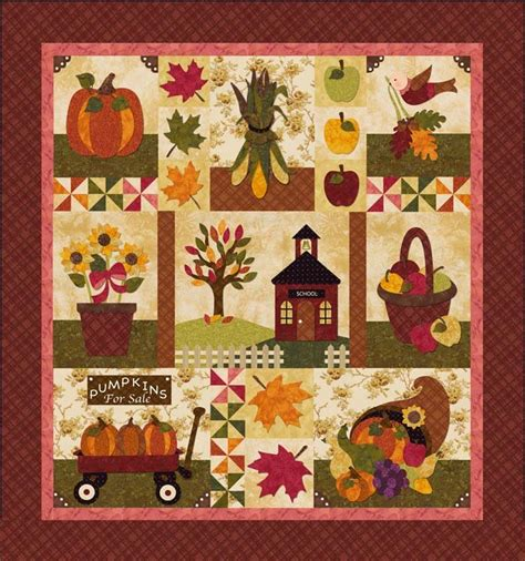 shabby fabrics kits last one blessings of autumn by shabby fabrics block of the month quilt kit