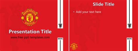 Of Manchester Powerpoint Template by Mufc Ppt Template Free Powerpoint Templates