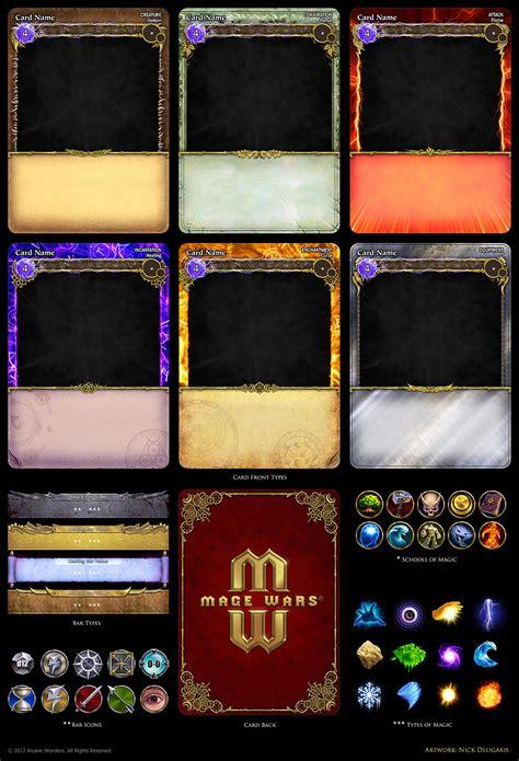 mage wars card assets  deligaris  deviantart