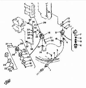 1989 Yamaha Fuel System Parts For 115 Hp 115etxf Outboard