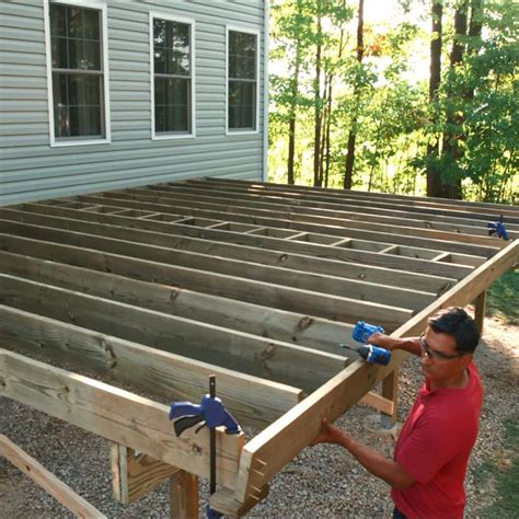 How To Build A Deck Post Holes And Deck Framing