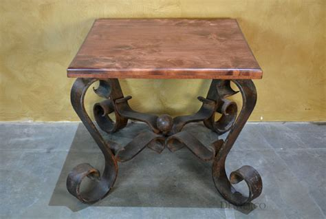 Espanola Spanish Wrought Iron End Table